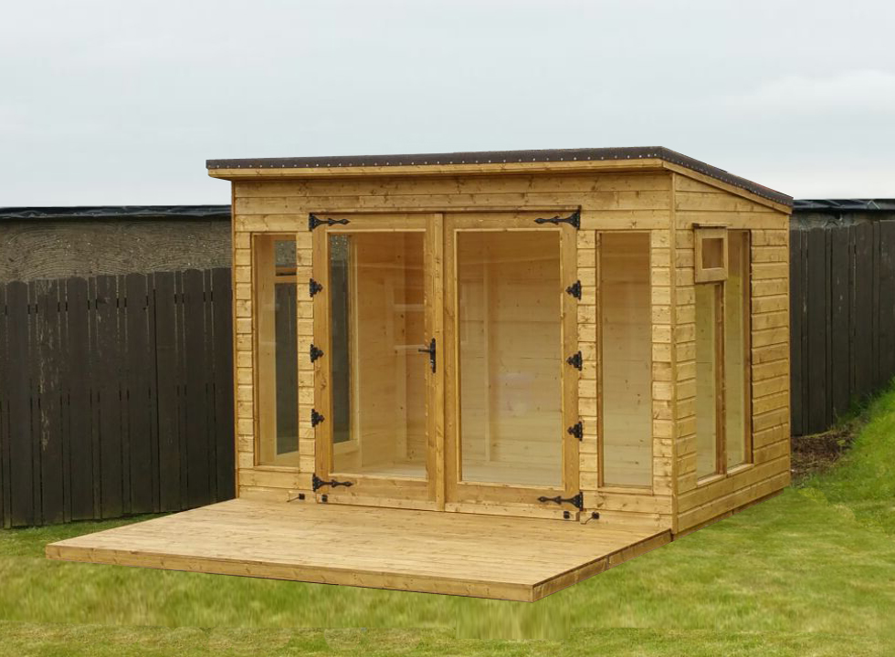 sheds ni pent roof summerhouse